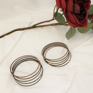 Jewelry - Set of 5 Metal Bangle Bracelets